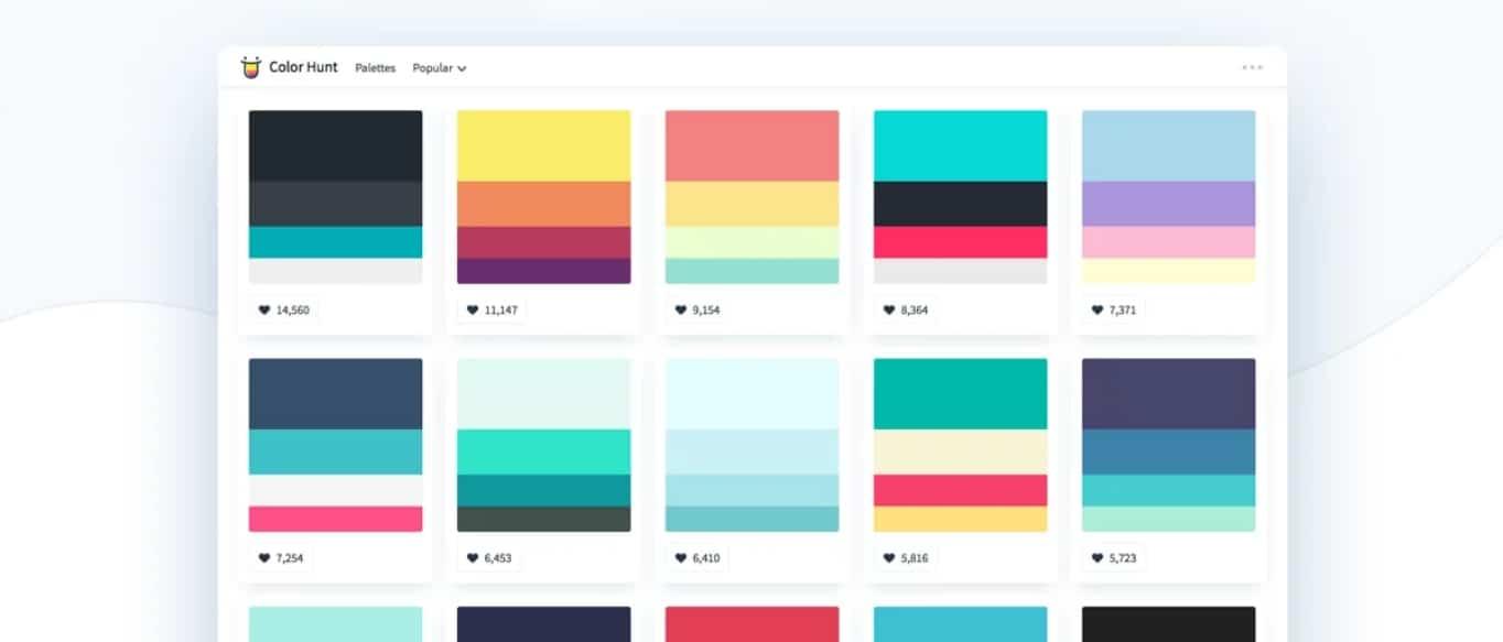 exemple de palettes de couleurs