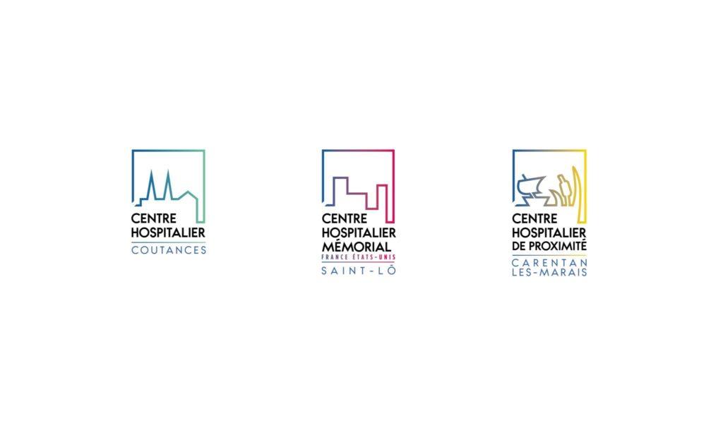 creation logo ch carent-les-maris - ch saint-lo - ch-coutances