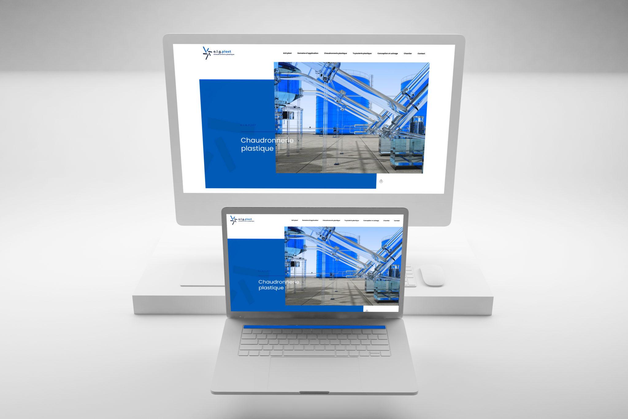 creation du site web à caen pour l'entreprise A.LG. Plast