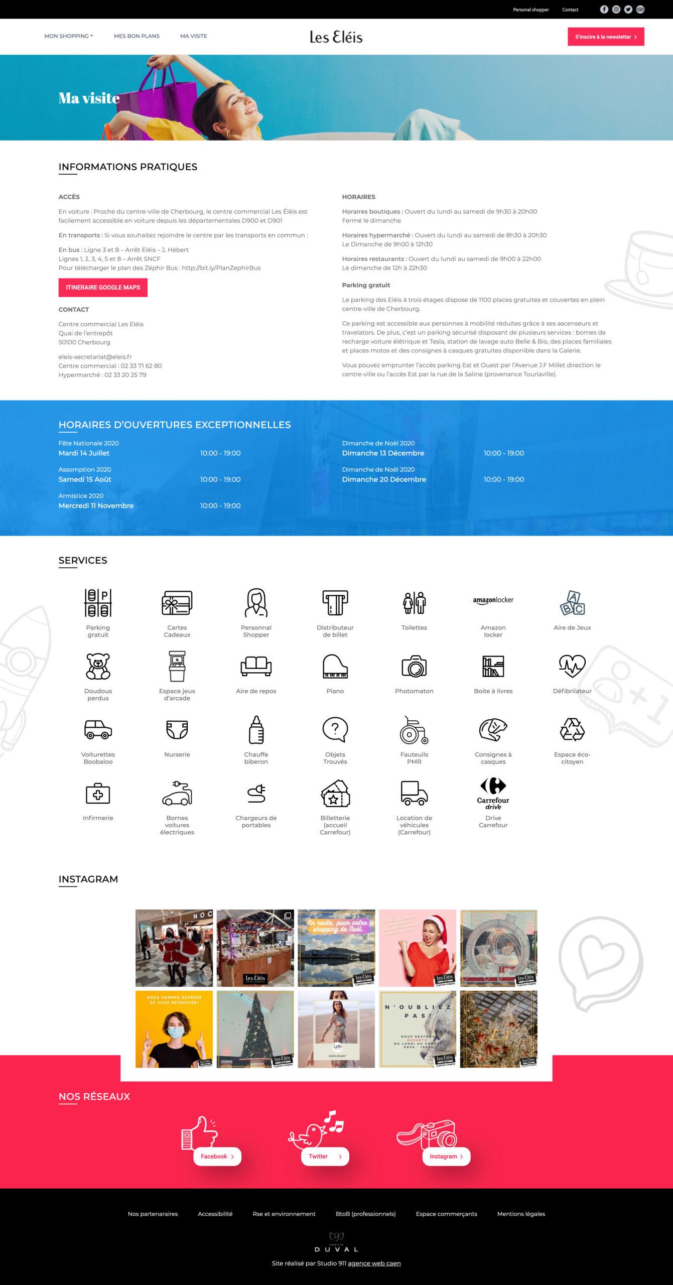 web design page site internet les eleis