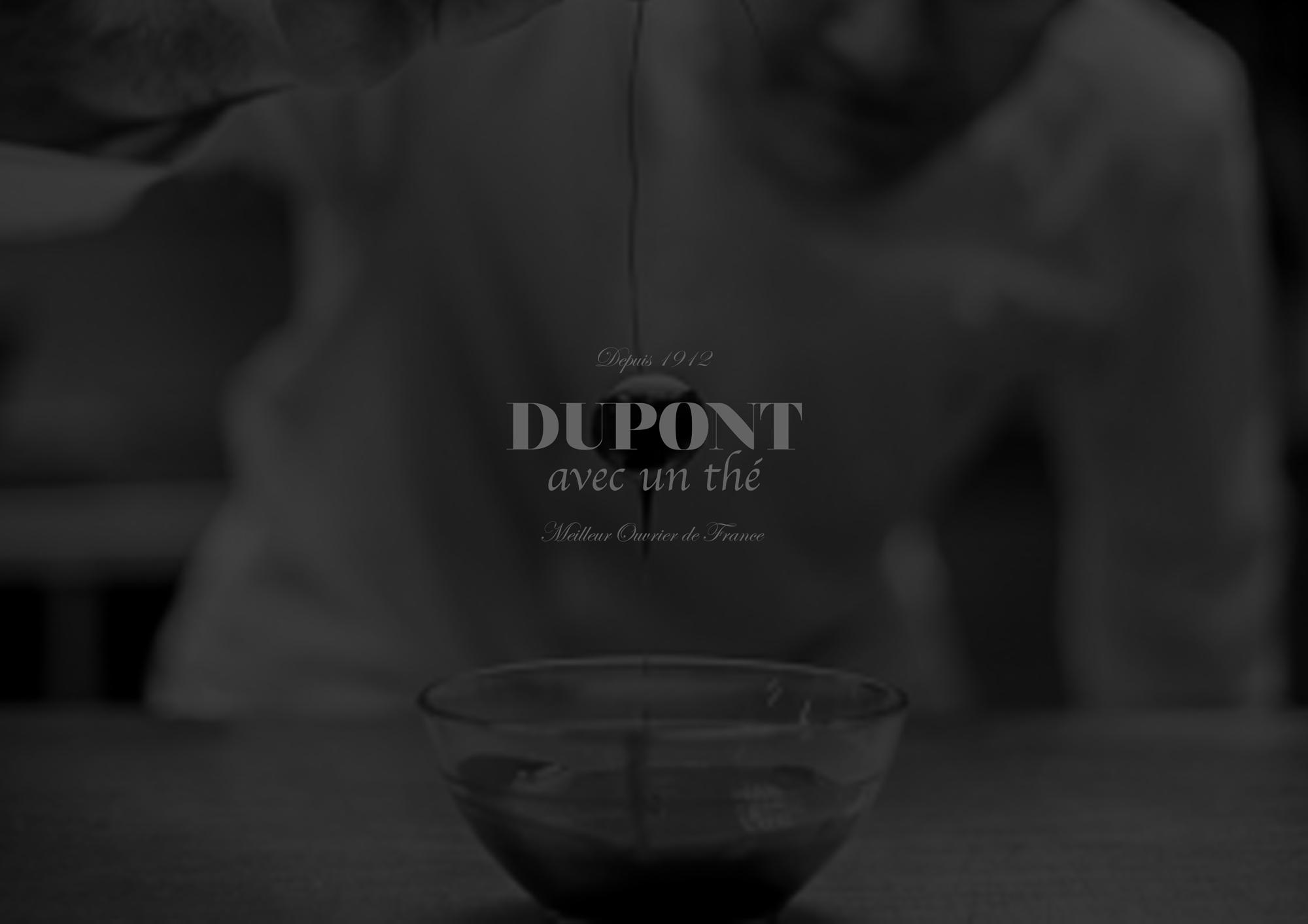 Graphisme et identité Dupont avec un thé