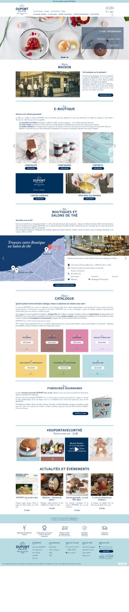 Dupont avec un thé site internet