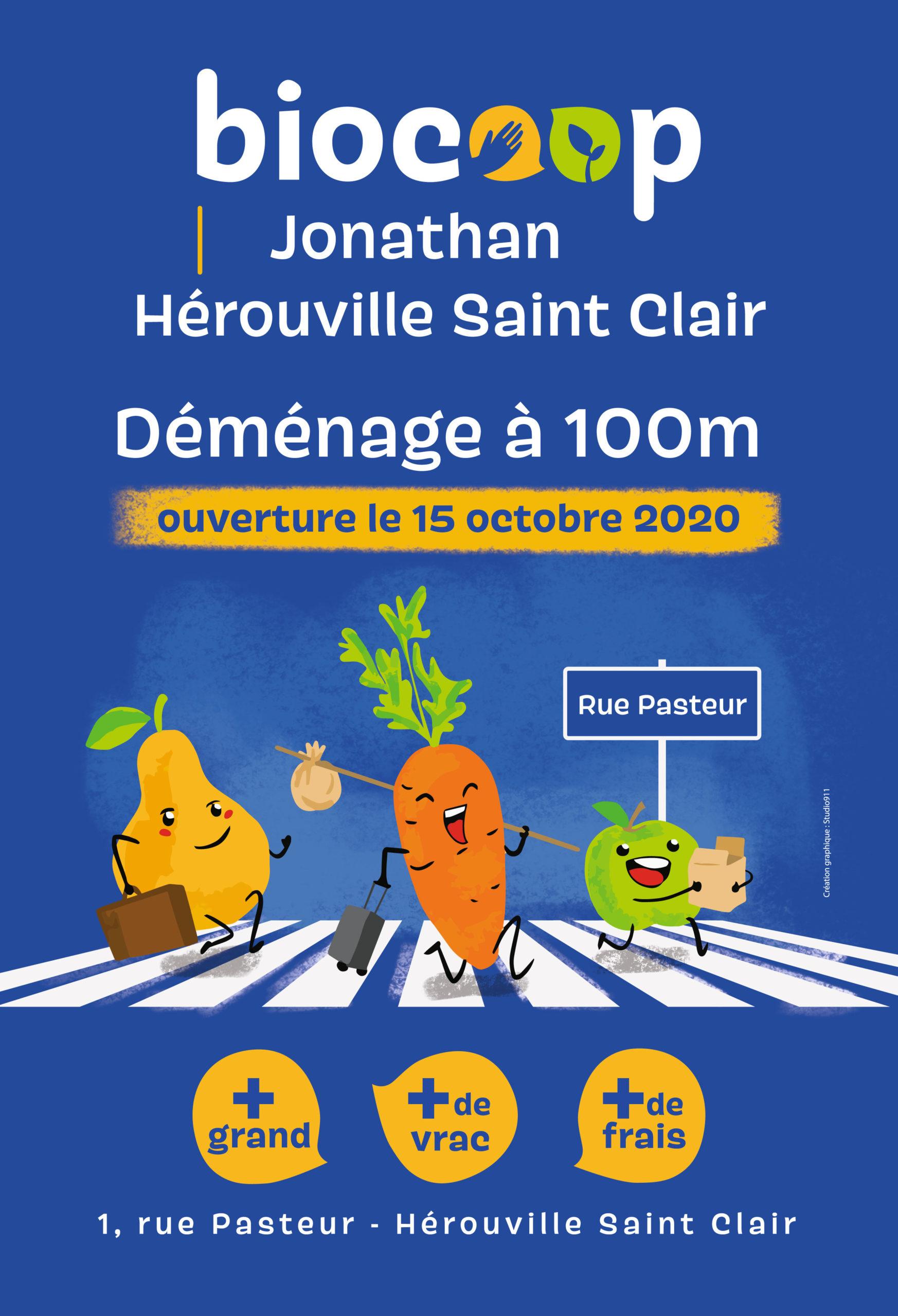 creation d'affiche pour Biocoop Jonathan à Caen
