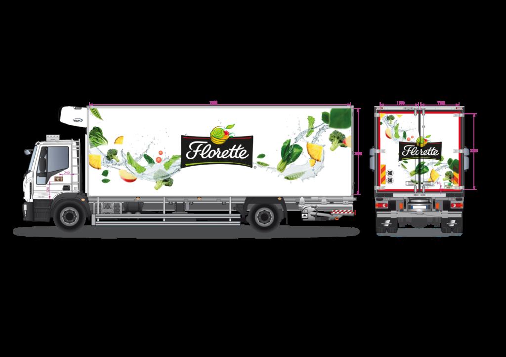 covering camion florette