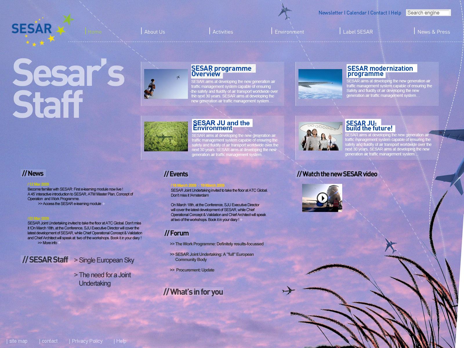 Webdesign SESAR