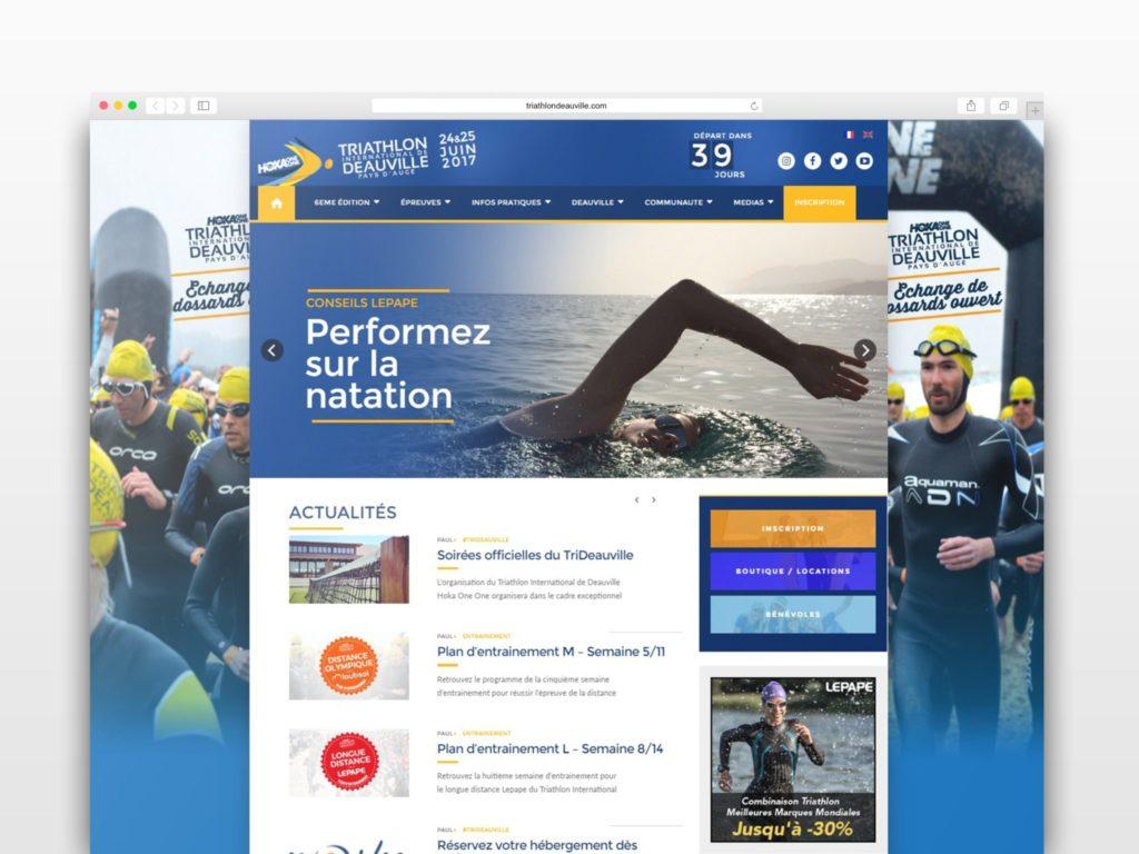webdesign triathlon de Deauville