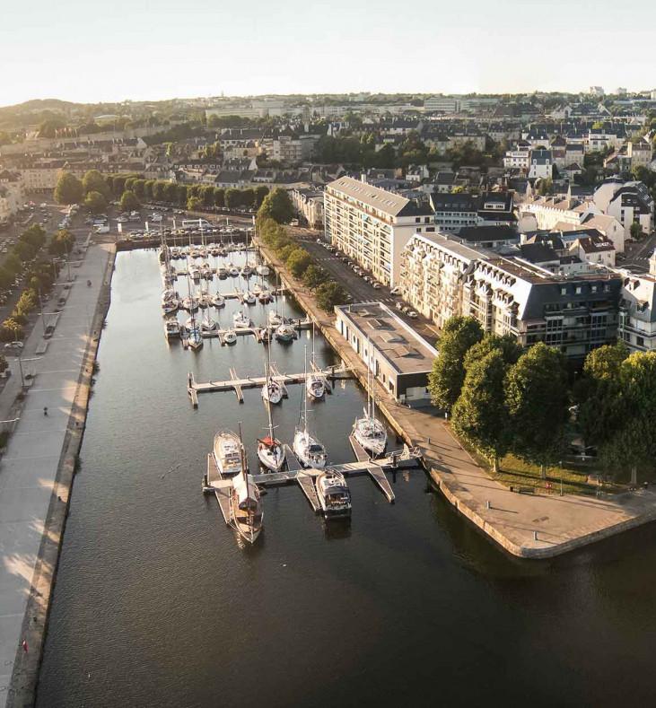 Port de Caen capite de la Normandie